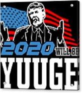 Reelect Trump For President Keep America Great Dark Acrylic Print