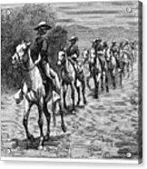 Remington: 10th Cavalry Acrylic Print by Granger