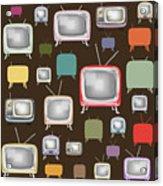 retro TV pattern  Acrylic Print by Setsiri Silapasuwanchai