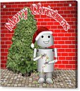 Robo-x9 Wishes A Merry Christmas Acrylic Print