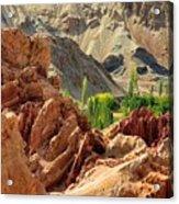 Ruins Basgo Monastery Leh Ladakh Jammu And Kashmir India Acrylic Print