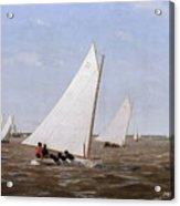Sailboats Racing On The Delaware Acrylic Print