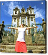 Saint Ildefonso Church Enjoying Acrylic Print
