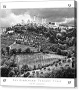 San Gimignano Tuscany Italy Acrylic Print