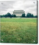 Scenes Around Lincoln Memorial Washington Dc Acrylic Print