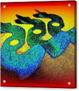 3 Serpents In The Sand  Acrylic Print