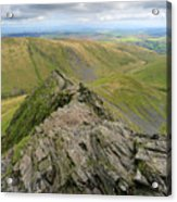 Sharpe Edge On Blencathra Fell, Lake District National Park Acrylic Print