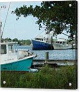 3 Shrimp Boat At Billys Acrylic Print