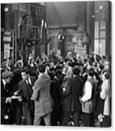 Silent Film Still: Crowds Acrylic Print