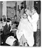 Silent Still: Barber Shop Acrylic Print