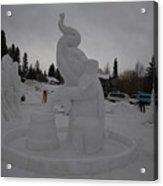 Snow Elephant Acrylic Print