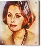 Sophia Loren, Vintage Hollywood Actress Acrylic Print