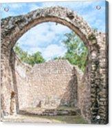 Spanish Chapel At Oxtankah Acrylic Print