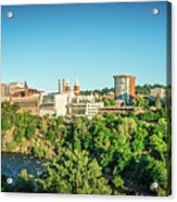 Spokane Washington City Skyline And Streets Acrylic Print