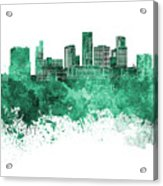 St. Paul Skyline In Watercolor Background Acrylic Print