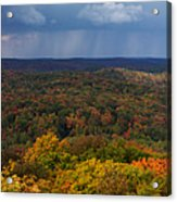 Storm Clouds Over Fall Nature Scenery Acrylic Print