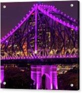 Story Bridge In Brisbane, Queensland Acrylic Print