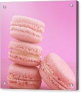 Strawberry Flavor Macaroons  Acrylic Print