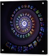 Spiral Stained Glass Acrylic Print