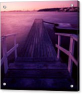 Sunset At Langedrag, Gothenburg Acrylic Print