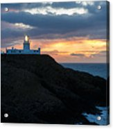 Sunset At Strumble Head Lighthouse Acrylic Print