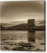 Sunset Over Castle Stalker,  Scotland, United Kingdom Acrylic Print