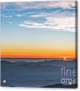 Sunset Over The La Silla Observatory Acrylic Print