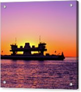 Sunset Silhouette Acrylic Print