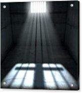 Sunshine Shining In Prison Cell Window Acrylic Print