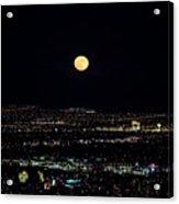 Super Moon In Las Vegas Acrylic Print