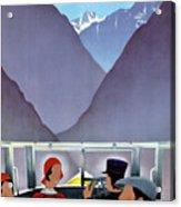 Switzerland Vintage Travel Poster Restored Acrylic Print
