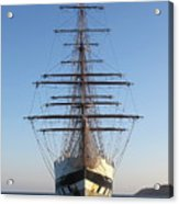 Tall Ship Anchored Off Penzance Acrylic Print