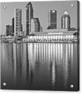 Tampa Bay Black And White Acrylic Print