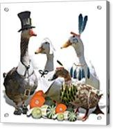 Thanksgiving Ducks Acrylic Print