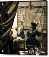 The Artist's Studio Acrylic Print by Jan Vermeer