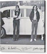 The Beatles Acrylic Print by Donna Wilson
