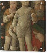 The Holy Family With Saint John Acrylic Print