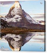 The Matterhorn Mountain In Switzerland Acrylic Print