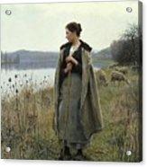 The Shepherdess Of Rolleboise Acrylic Print