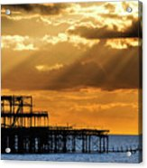 The West Pier In Brighton At Sunset Acrylic Print