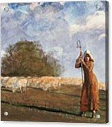 The Young Shepherdess Acrylic Print