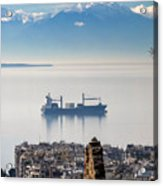 Thessaloniki With View Of Olympus Acrylic Print