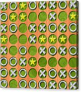 Tic Tac Toe Wooden Board Generated Seamless Texture Acrylic Print