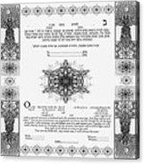 tree of life ketubah-Reformed and Interfaith version Acrylic Print
