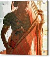 Tribal Beauty Of India Acrylic Print