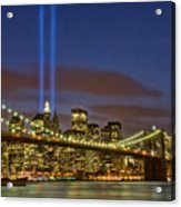 Twin Towers Of Light Acrylic Print