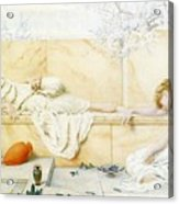 Two Classical Figures Reclining Henry Ryland Acrylic Print