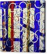 Blue Line Acrylic Print