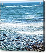 Usa California Pacific Ocean Coast Shoreline Acrylic Print