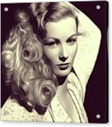 Veronica Lake, Vintage Actress Acrylic Print